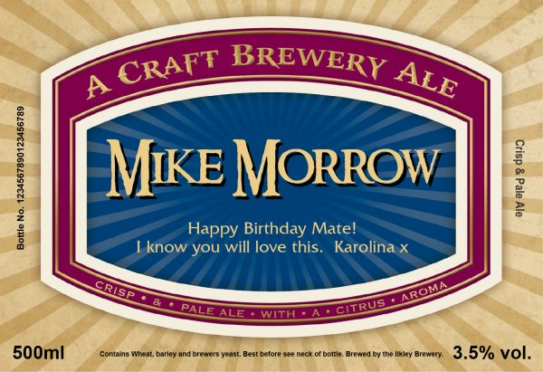 Traditional Label Craft Beer 1