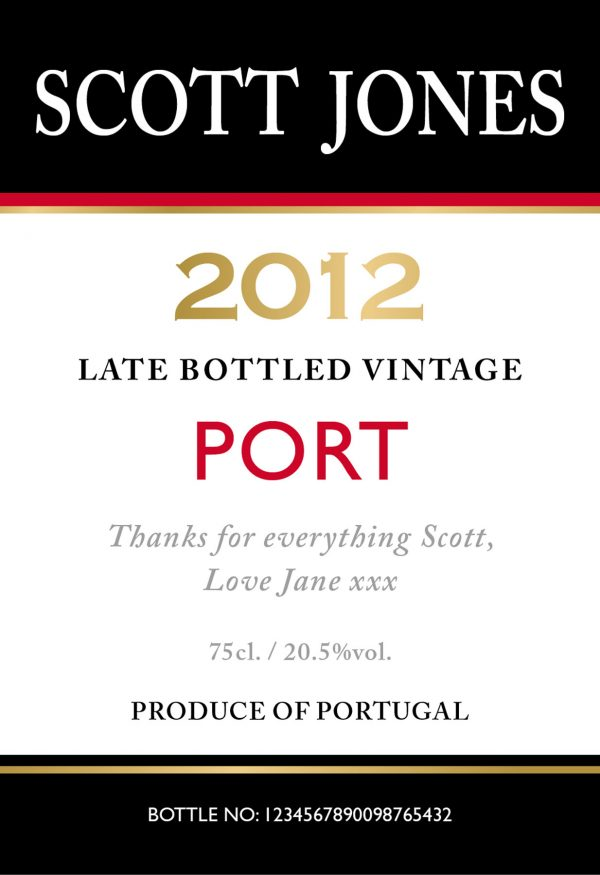 Personalised Contemporary Port Bottle 1