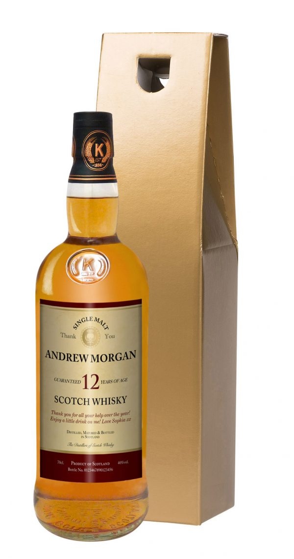 Personalised Thank You 12 Year Old Malt Whisky 2