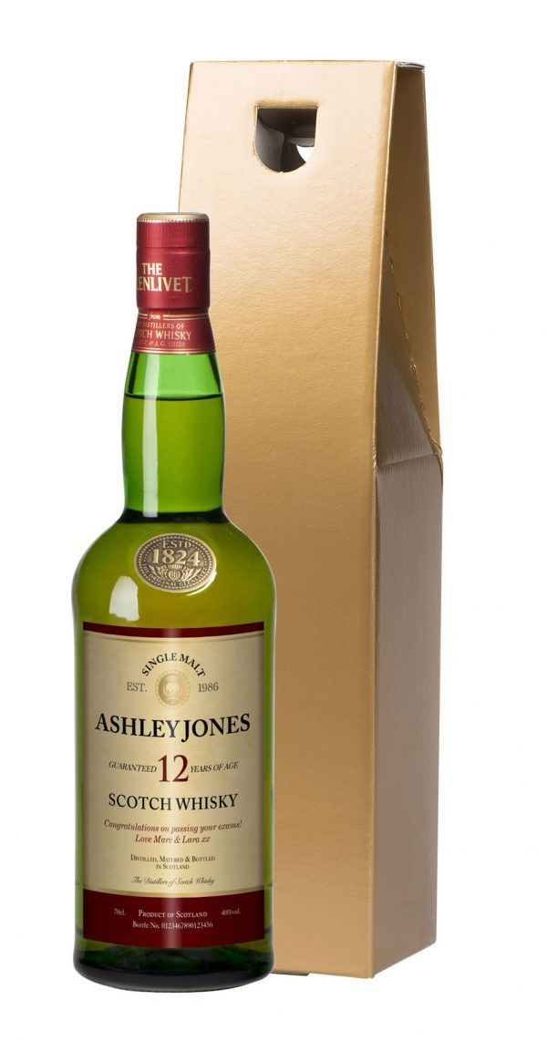 Personalised 12 Year Old Malt Whisky 1