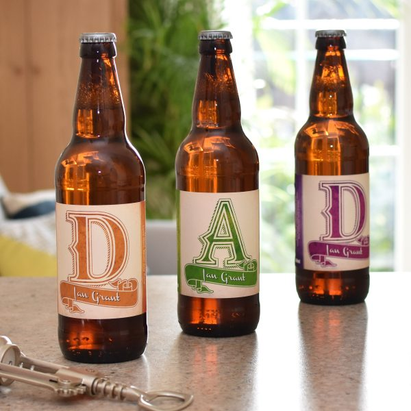 D.A.D. 3 Pack of Personalised Beer 12