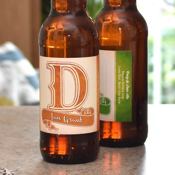 D.A.D. 3 Pack of Personalised Beer 10