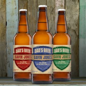 Dad's 3 Pack of Personalised Beer 8