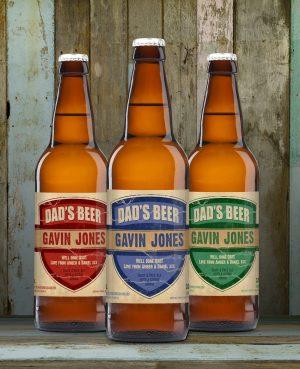 Dad's 3 Pack of Personalised Beer 8