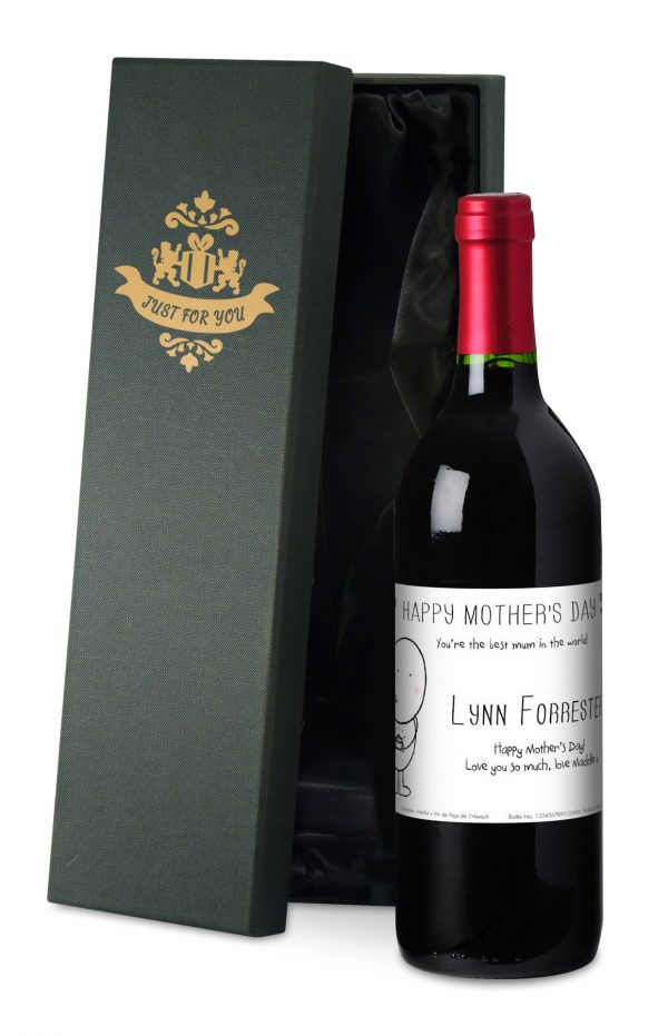 Personalised Chilli & Bubbles Mother's Day Red Wine 4