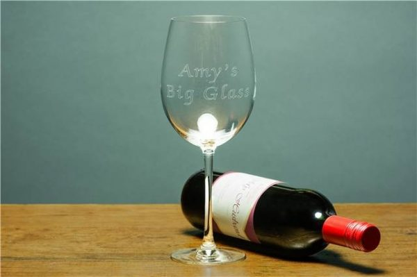 Engraved Giant Wine Glass 1