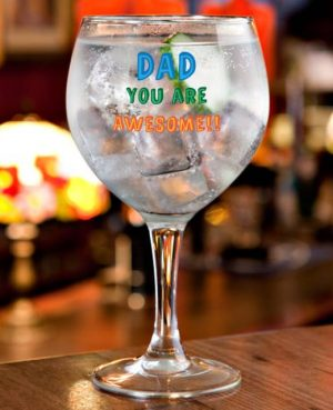 Dad You Are... Personalised Gin Glass Gift 4