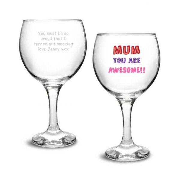 Mum You Are... Personalised Gin Glass Gift 5