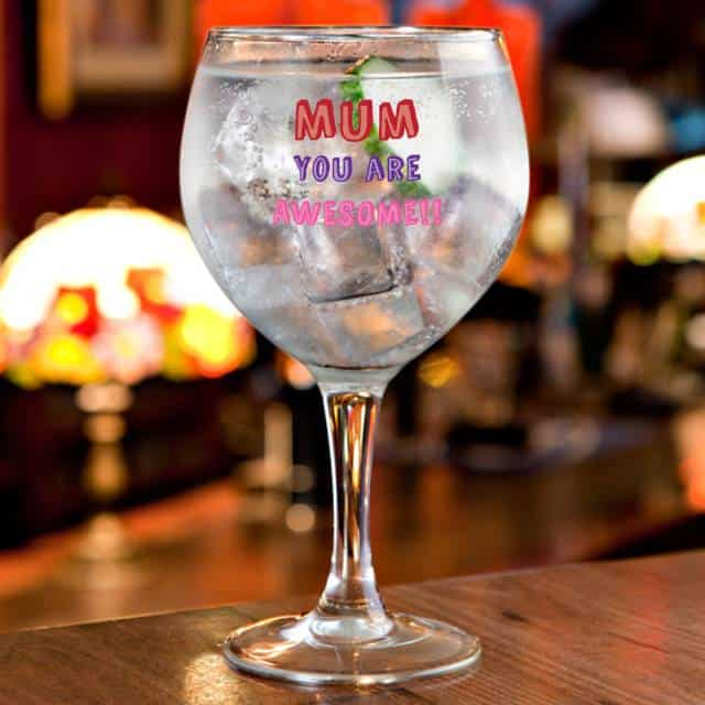 Mum You Are... Personalised Gin Glass Gift 4