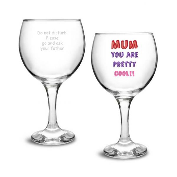 Mum You Are... Personalised Gin Glass Gift 2