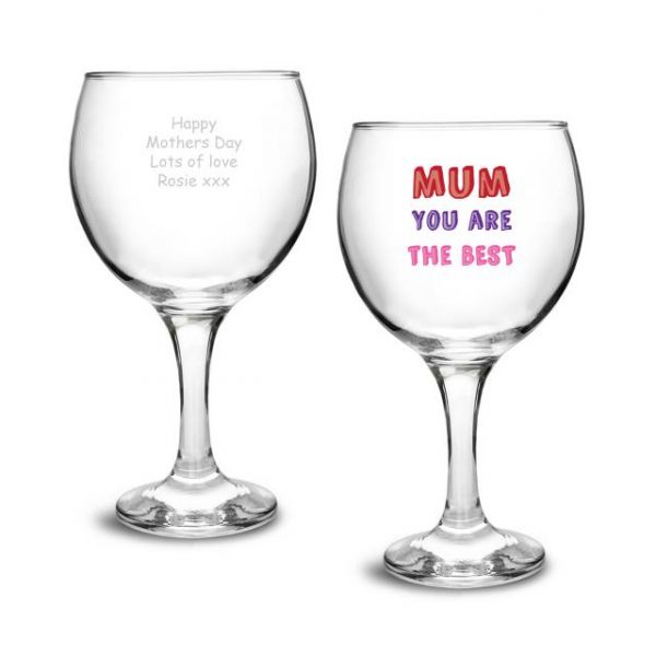 Mum You Are... Personalised Gin Glass Gift 1