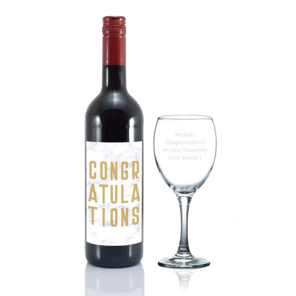 Congratulations Red Wine Gift Set 4
