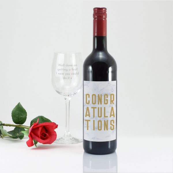 Congratulations Red Wine Gift Set 3