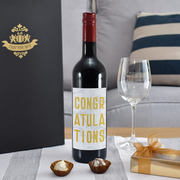 Congratulations Red Wine Gift Set 2