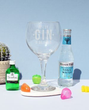 Gin and bear it balloon glass 9
