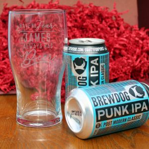 Have No Fear Brewdog Beer Gift Set - Personalised Pint Glass 1