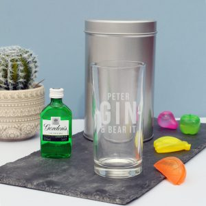 Gin and bear it hi ball glass gift set 1
