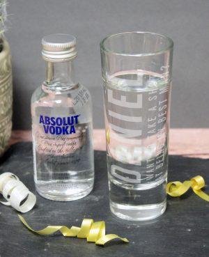 Take A Shot Gift Set - Personalised Shot Glass & Vodka 1