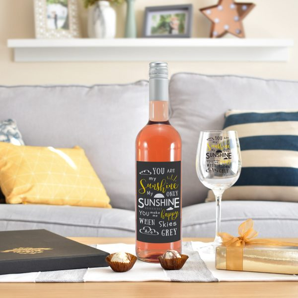 You Are My Sunshine - Personalised Wine Glass Rose 2
