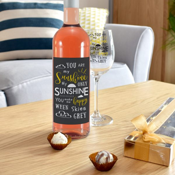 You Are My Sunshine - Personalised Wine Glass Rose 3