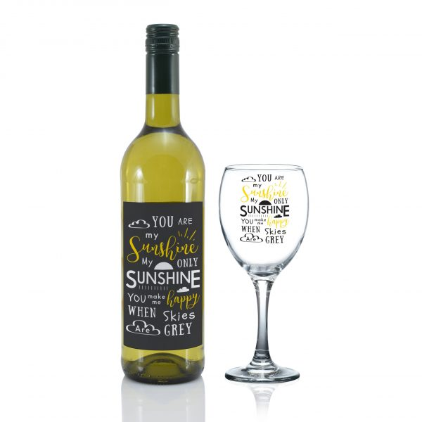 You Are My Sunshine - Personalised Wine Glass 1