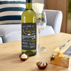 You Are My Sunshine - Personalised Wine Glass 3