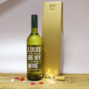Always Be My Partner In Wine Gift - White Wine 2