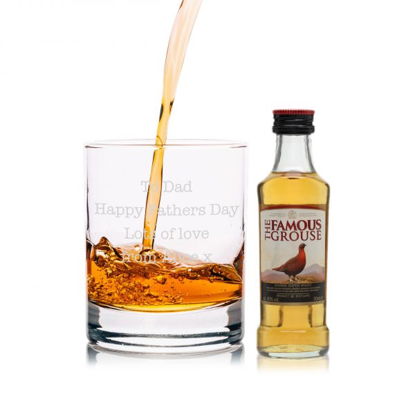 Famous Grouse personalised glass gift set 1