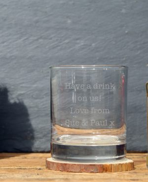 Famous Grouse personalised glass gift set 2