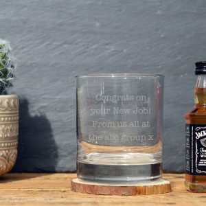 Jack Daniels personalised glass gift set 2