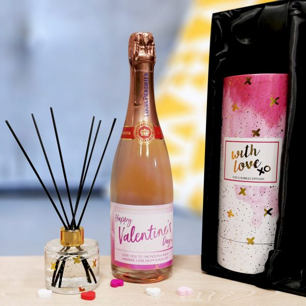 Personalised Prosecco Reed Diffuser Gift Set 6