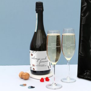 always and forever personalised Prosecco bottle 5