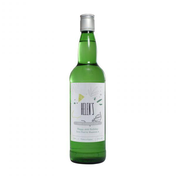 Personalised botanical gin bottle 2