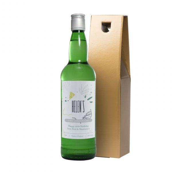 Personalised botanical gin bottle 1