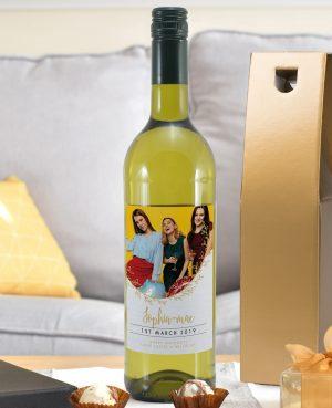 Gold Detail Photo Upload White Wine 5
