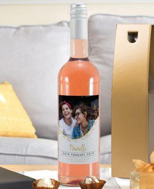 Gold Detail Photo Upload Rosé Wine 4
