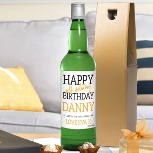 happy self isolating birthday gin bottle 4