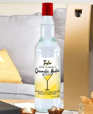 Quarantini Martini Vodka personalised bottle 4