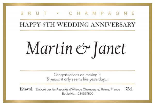 Personalised Anniversary Champagne Bottle 1