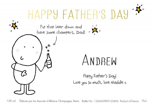 Personalised Chilli & Bubbles Father's Day Champagne Bottle 1