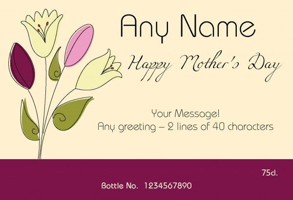 Personalised Mother's Day Bouquet Red Wine 1