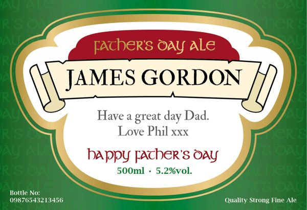 Personalised Father's Day Beer 1