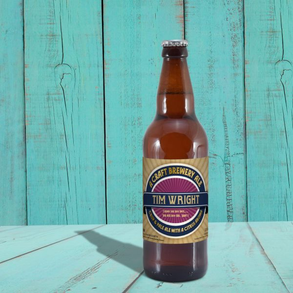 Personalised Contemporary Label Craft Beer 4
