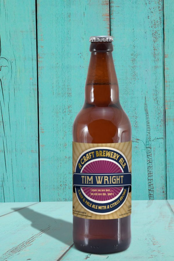 Personalised Contemporary Label Craft Beer 2
