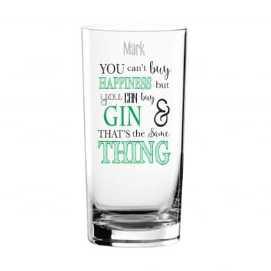 can't buy happiness gin glass 2
