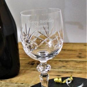 Cut Crystal Personalised Wine Glass 2