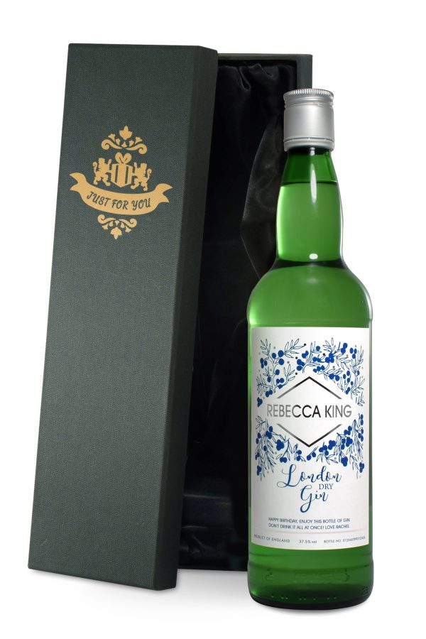 personalised name gin bottle 3
