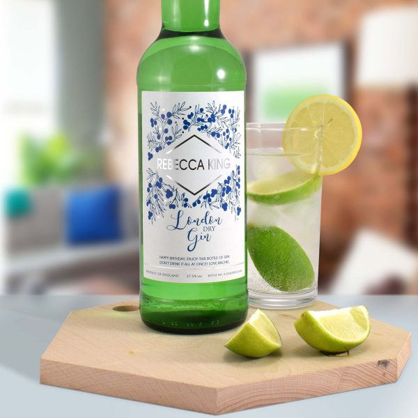 personalised name gin bottle 7