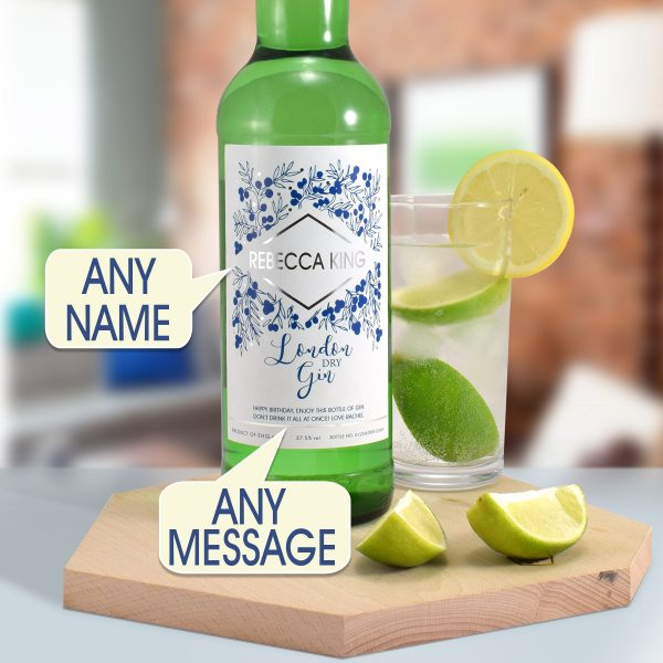 personalised name gin bottle 6