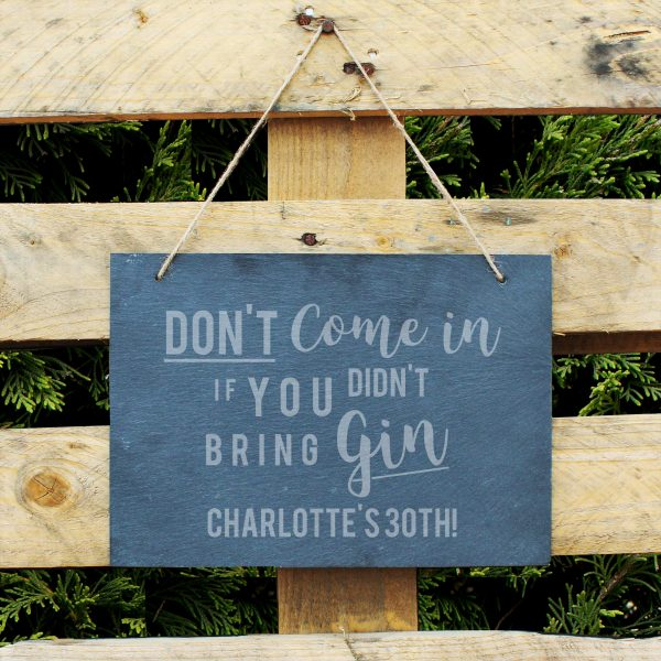 personalised gin sign slate 4